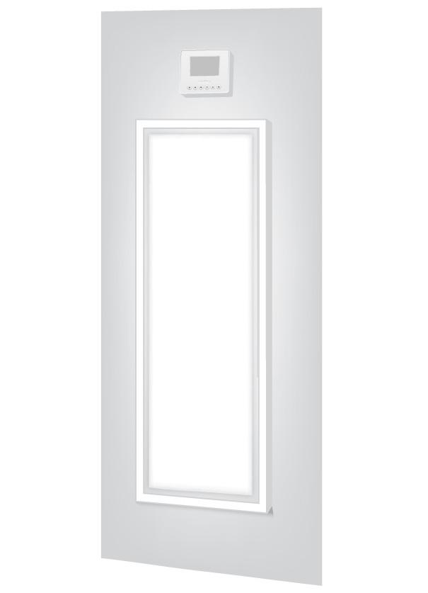 Heat Pump Access Panel & Thermostat Illustration